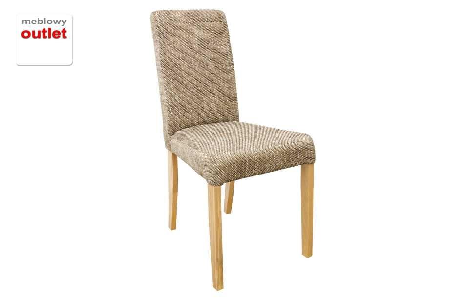 Muuf Krzesło Bukowe Drewniane Z Obiciem Materiałowym
